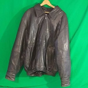 Liz Claiborne brown lambskin leather jacket XL